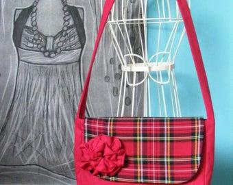 Fancy bag model fabric red flower