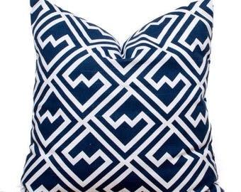 "SALE ENDS SOON Navy Throw Pillows, Navy Squares Pillow Cover, Navy Pillows, Blue Decorative Pillows, 16 x 16"""