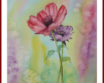 Watercolor - ANEMONES