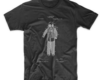 Hemenger Diving Armor Patent T Shirt, Underwater Art, Nautical TShirt, Sailing Shirt, SCUBA Diver Gift, PP0343