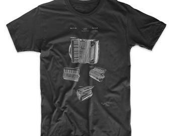 Accordion Patent T Shirt, Music Shirt, Music Teacher Gift, Jazz Shirt, Musician Gift, PP0283