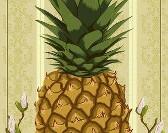 Williamsburg, Virginia - Colonial Pineapple - Lantern Press Artwork (Art Print - Multiple Sizes Available)