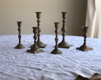 Brass Candlesticks Brass Candle Holders / Set of Brass Candlesticks / Wedding Candlesticks Brass Candlesticks / Brass Candlestick Holders