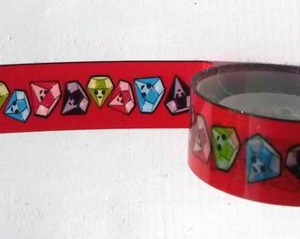 Decorative tape, masking tape 2 m approx diamond pattern