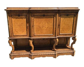 Antique Italian Marquetry Inlaid Sideboard Cupboard Cabinet