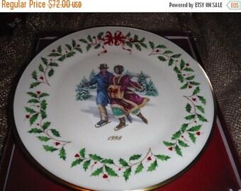 BIG SALE LENOX Christmas Holiday Annual Christmas Plates 1998  8 th of series