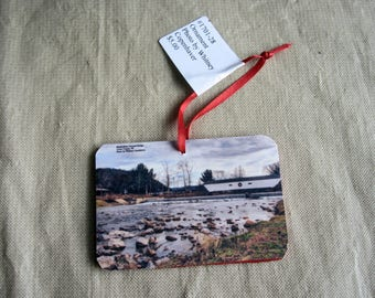 Christmas Ornament Elizabethton Tennessee Covered Bridge Photography
