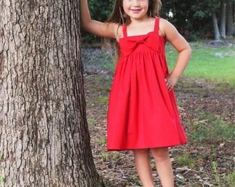 Girls Dresses, Girls Fall Dress, Girls Christmas Girls Red Dress, Girls Fall Clothing, Girls Back to School Dress, Girls Dresses