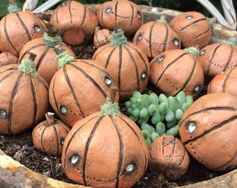 Cute pumpkin decoration, halloween decoration, pumpkin ornament, autumnal decoration, spooky decoration, pumpkin figurine
