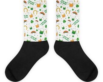 Kiss Me I'm Irish All Over St. Patrick's Day Socks