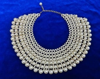Faux Pearl multistrand necklace