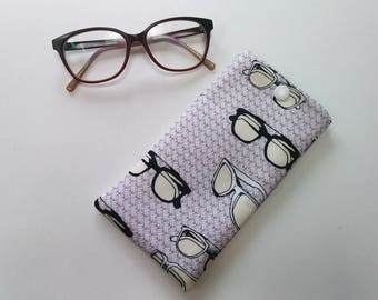 Retro glasses case, glasses case, sunglasses case, fabric glasses case