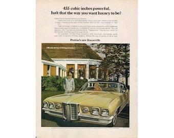 Vintage poster advertisement of a 1970 Pontiac Bonneville - 20