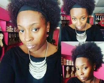 Hope floats afro human hair, head band wig
