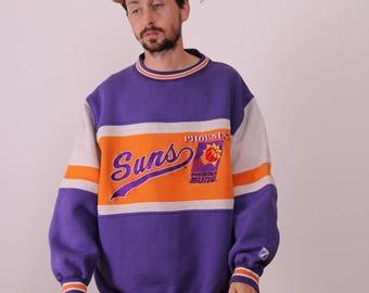 90s Phoenix Suns Colorblock Logo 7 Sweatshirt XL