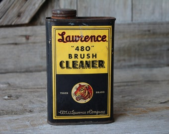 Lawrence 480 Brush Cleaner Tin Can - W. W. Lawrence Paint Company Pittsburgh Pennsylvania