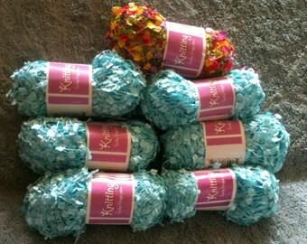 Funky Fringe Knitting Yarn 7 skeins 1 ounce 90 Yards Crochet Yarn Knitting Supply Craft Supply Scarf Yarn Polyester Yarn  h13