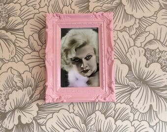 """Jean Harlow print in a baby pink frame 6x4"""""""