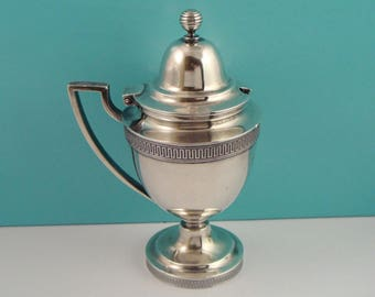 ANTIQUE TIFFANY & Co Makers 925 Sterling Silver Mustard Pot Jar