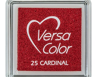 Red ink pad, VersaColor ink pad, cardinal, craft supplies, ink pad for rubber stamps, DIY, water based ink pad, small ink pad