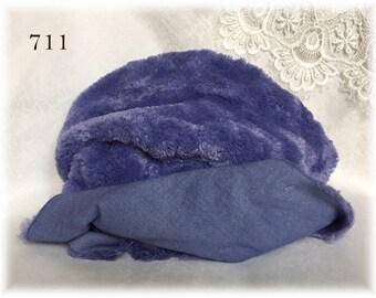 Italian Viscose Plush Fabric Fur Hand Dyed Colour (711) 8-9 mm pile 1/8 m teddy bear making supplies