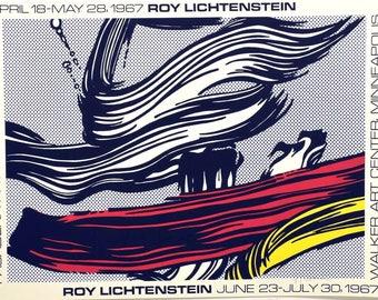 ROY LICHTENSTEIN - 'Brushtrokes' - hand signed original screenprint - c1967 - rare (serigraph. Pasadena Art Museum. Andy Warhol interest)