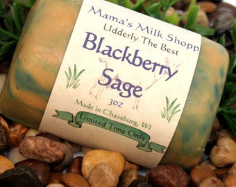 Blackberry Sage - Limited Time Only - Spring Time Collection - Handmade - Farm Fresh - Goat Milk Soap - Wisconsin