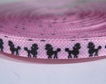 "5 yards of 3/8 inch ""Poodle"" grosgrain ribbon"