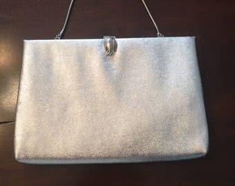 Vintage Harry Levine Silver Evening Bag