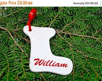 ON SALE Christmas Ornament Boot Engraved Personalize decoration for Christmas Tree -