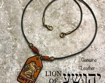 Lion Of Judah,YAHUSHA in PALEO HEBREW, Hebrew Necklace, Torah, Messianic Necklace