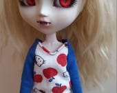Hello Kitty long sleeved TopShirt for Pullip  blue