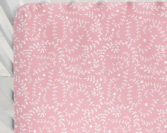 Pink Crib Sheet Baby Shower Gift Girl Crib Bedding Girl Pink Nursery Bedding Baby Girl Bedding Pink Baby Bedding Pink Fitted Crib Sheet