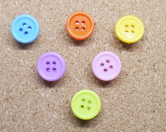 Bright Thumb Tacks, Polka Dot Map Pins, Bright Colourful Student Deco, Noticeboard Accessory, Office Decoration, Gifts for Women, Craft Room