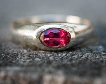 Rubellite Tourmaline Ring Size 9 - Pink Tourmaline Ring - Tourmaline Ring Size 9 - Pink Tourmaline - Engagement Ring Alternative - Rubellite