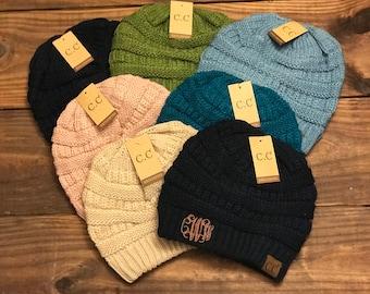 Monogram CC Beanie Hats, Skullies, Winter Hat, Beanie Hat, CC Beanies