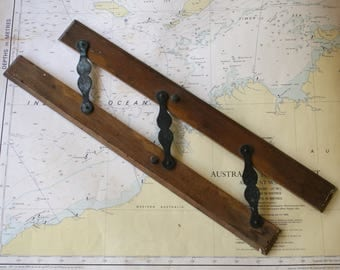 Maritime Parallel Rulers Map Reading Wood Nautical Navigation Orientation Coastal Decor Chart Reading Instrument Gift for Man Men Father