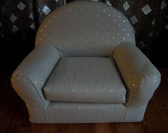 """Last of this Fabric - Pretty Grays - 18"""" Doll Furniture - Chair - For any 18"""" doll"""