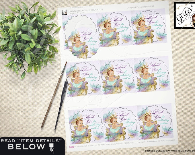"Baby Shower Cupcake Toppers, CUSTOMIZABLE labels, stickers, tags party decoration 2.5x2.5""/9 Per Sheet {Designed For Avery® 08218}"