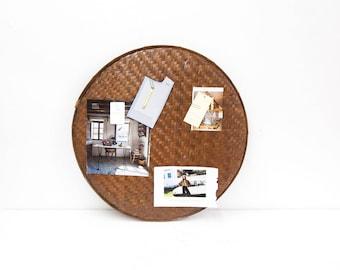 Cane Basket Tray as Inspiration Board
