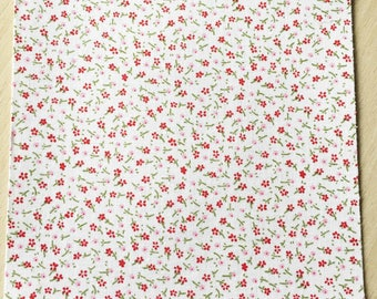 Fabric adhesive pattern: floral flowers 200 x 150 mm (A5)