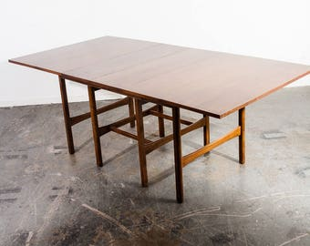 Mid Century Modern Dining Table American Of Martinsville Extension Vintage  Leafs Lane Brown Saltman Drop Leaf