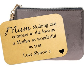 Personalised Mum Wallet Insert Card