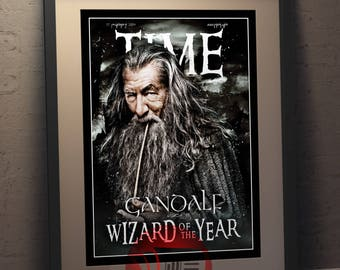 Gandalf - Wizard of the Year   Faux Magazine Cover