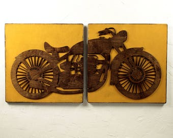 Vintage Motorcycle Decor, Rustic Sign, Motorbike Sign, Vintage Sign, Man Cave, Motorcycle, Harley Davidson, Indian, Motorcycle Wall Art