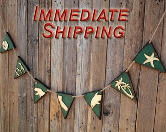 Beach Decor California Decor Beach Pennant Flag Pennant Flag Wall Pennant Nursery Decor Coastal Decor Bathroom Nautical Wall READY TO SHIP