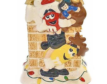 M&M'S CHRISTMAS Holiday Planter from FTD - Collectible