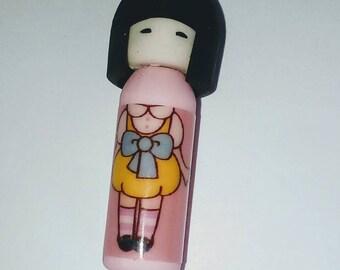 X 1 Eraser kawaii kokeshi