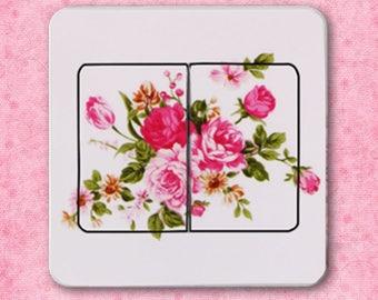Pink X 1 flower switch Sticker