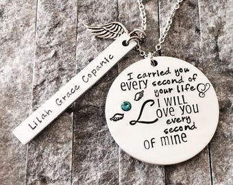 Angel Baby Necklace - Pregnancy Loss Necklace - Baby Loss Jewelry - Miscarriage Necklace - Angel Necklace